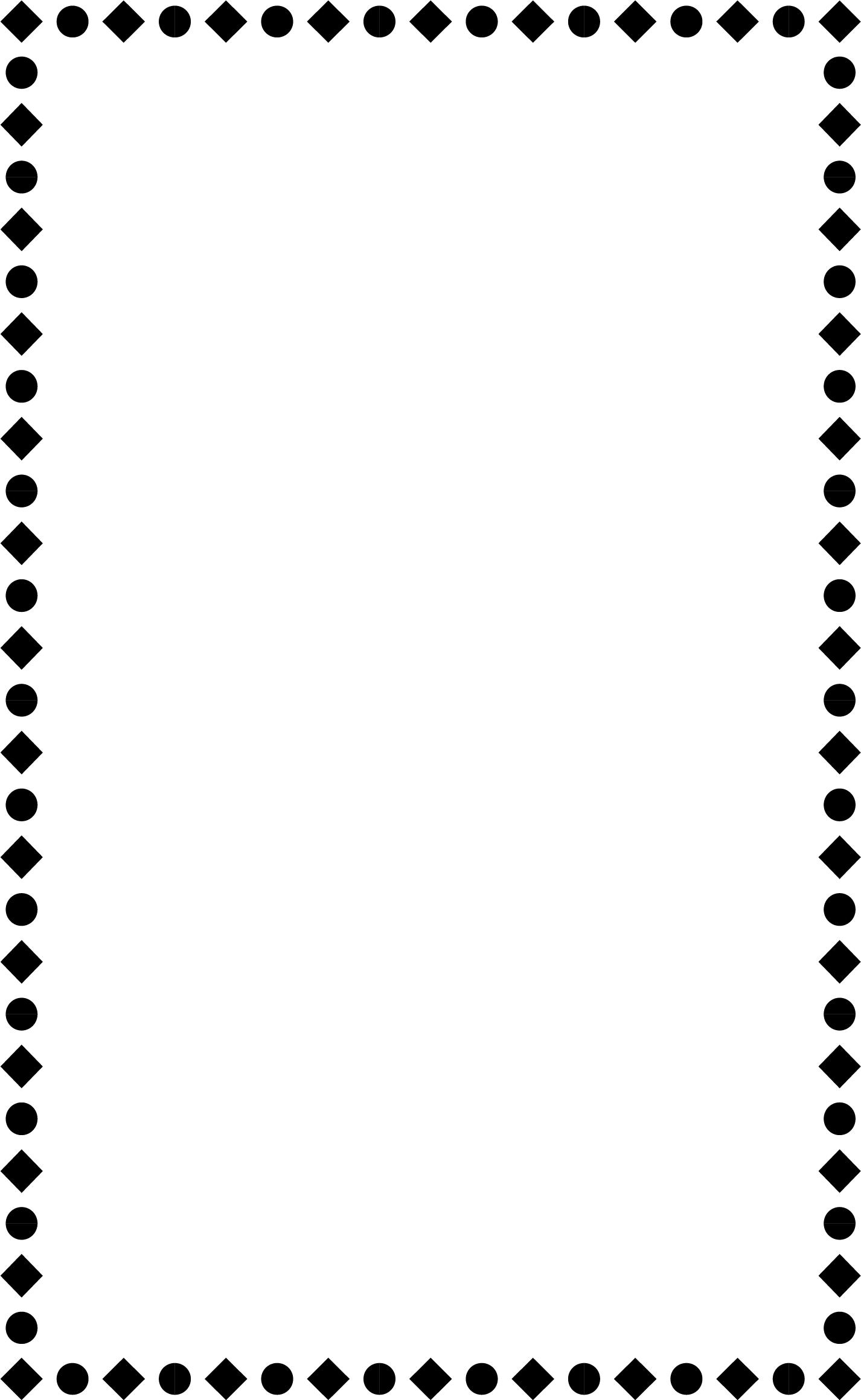 wedding menu borders